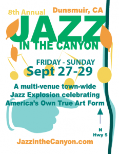 Jazz in the Canyon 2019 Flyer Gra